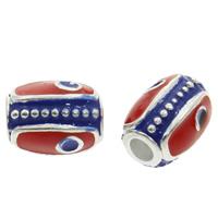 Cloisonne Perlen, Cloisonné, Trommel, handgemacht, frei von Blei & Kadmium, 10x7.5mm, Bohrung:ca. 3mm, verkauft von PC