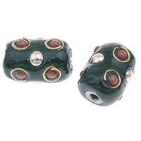 Indonesien Perlen, Zinklegierung, mit Indonesien, Zylinder, plattiert, frei von Blei & Kadmium, 18x12mm, Bohrung:ca. 2mm, verkauft von PC