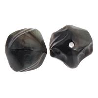 Eis-Flake-Acryl-Perlen, Acryl, Klumpen, Eis Flocke, schwarz, 20x19mm, Bohrung:ca. 1mm, ca. 120PCs/Tasche, verkauft von Tasche
