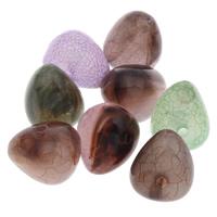 Eis-Flake-Acryl-Perlen, Acryl, Dreieck, Eis Flocke, gemischte Farben, 12x14mm, Bohrung:ca. 1mm, ca. 370PCs/Tasche, verkauft von Tasche