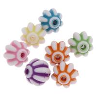 Chemische Wash Acryl Perlen, Trommel, chemische-Waschanlagen & gewellt, gemischte Farben, 8x8mm, Bohrung:ca. 1mm, ca. 1250PCs/Tasche, verkauft von Tasche