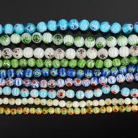 Chevron Glasperlen, rund, handgemacht, verschiedene Größen vorhanden, keine, Länge:ca. 14 ZollInch, verkauft von Menge