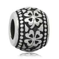 Edelstahl European Perlen, 316 L Edelstahl, Trommel, ohne troll & Schwärzen, 9x12mm, Bohrung:ca. 4mm, 10PCs/Tasche, verkauft von Tasche