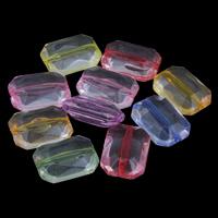 Transparente Acryl-Perlen, Acryl, Achteck, gemischte Farben, 13x18x7mm, Bohrung:ca. 1mm, ca. 390PCs/Tasche, verkauft von Tasche