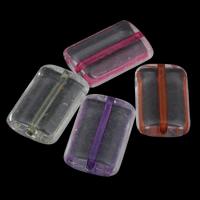 Transparente Acryl-Perlen, Acryl, Rechteck, gemischte Farben, 14x21x6mm, Bohrung:ca. 1mm, ca. 260PCs/Tasche, verkauft von Tasche
