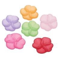 Acryl Perlkappen, Blume, satiniert & transluzent, gemischte Farben, 23x20x6mm, Bohrung:ca. 1mm, ca. 500PCs/Tasche, verkauft von Tasche