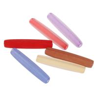 Matt Acryl Perlen, Zylinder, satiniert & transluzent, gemischte Farben, 5x25mm, Bohrung:ca. 1mm, ca. 1000PCs/Tasche, verkauft von Tasche