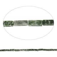 Natürliche Moos Achat Perlen, Rechteck, 4x13mm, Bohrung:ca. 1mm, Länge:ca. 15.5 ZollInch, 10SträngeStrang/Tasche, ca. 31PCs/Strang, verkauft von Tasche