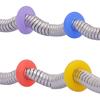 Silikon-Perlen, Silikon, Kreisring, keine, 7mm, Bohrung:ca. 3.2mm, 100PCs/Tasche, verkauft von Tasche