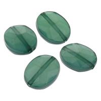 Transparente Acryl-Perlen, Acryl, flachoval, facettierte & transluzent, grün, 11x14x5mm, Bohrung:ca. 1mm, ca. 1180PCs/Tasche, verkauft von Tasche