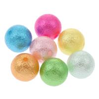 Sternenstaub Acrylpelen, Acryl, rund, Falten, gemischte Farben, 14mm, Bohrung:ca. 1mm, ca. 530PCs/Tasche, verkauft von Tasche