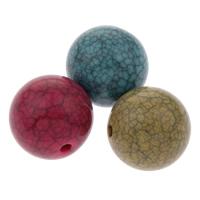 Eis-Flake-Acryl-Perlen, Acryl, rund, Eis Flocke & Volltonfarbe, gemischte Farben, 20mm, Bohrung:ca. 2mm, ca. 100PCs/Tasche, verkauft von Tasche
