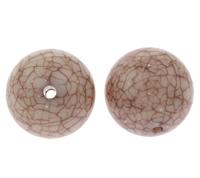 Eis-Flake-Acryl-Perlen, Acryl, rund, Eis Flocke & transluzent, Kaffeefarbe, 22mm, Bohrung:ca. 2mm, ca. 840PCs/Tasche, verkauft von Tasche