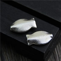 925 Sterling Silber Perlen, Fisch, 8x14mm, Bohrung:ca. 1.5mm, 5PCs/Menge, verkauft von Menge