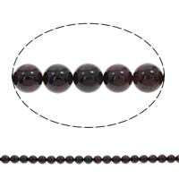 Natürlicher Granat Perlen, rund, synthetisch, Januar Birthstone & verschiedene Größen vorhanden, Bohrung:ca. 1mm, verkauft per ca. 15.5 ZollInch Strang