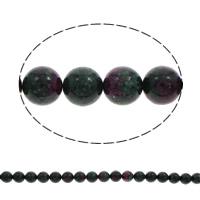 Unakit Perlen, Unakite, rund, verschiedene Größen vorhanden, Bohrung:ca. 1mm, verkauft per ca. 15.5 ZollInch Strang