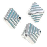 Verkupfertes Kunststoff-Perlen, Verkupferter Kunststoff, Doppelkegel, Bläu, 10x12mm, Bohrung:ca. 1mm, 1000PCs/Tasche, verkauft von Tasche