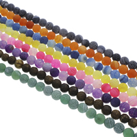 Auswitterung Achat Perle, rund, verschiedene Größen vorhanden, keine, Bohrung:ca. 1.5mm, Länge:ca. 14.5 ZollInch, verkauft von Tasche