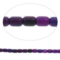 Natürliche violette Achat Perlen, Violetter Achat, Zylinder, verschiedene Größen vorhanden, Bohrung:ca. 1.5mm, verkauft per ca. 15 ZollInch Strang