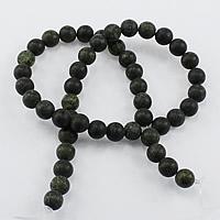 Russische Serpentine Perlen, rund, natürlich, verschiedene Größen vorhanden & satiniert, Bohrung:ca. 1-2mm, Länge:ca. 15 ZollInch, verkauft von Menge