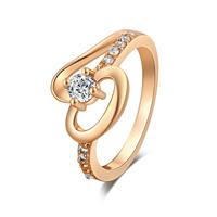 Gets® Finger Ring, Messing, vergoldet, verschiedene Größen vorhanden & mit kubischem Zirkonia & facettierte, frei von Nickel, Blei & Kadmium, 12mm, verkauft von PC