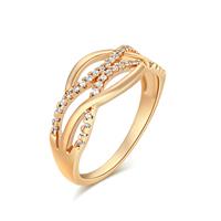 Gets® Finger Ring, Messing, vergoldet, verschiedene Größen vorhanden & mit kubischem Zirkonia, frei von Nickel, Blei & Kadmium, 8.5mm, verkauft von PC