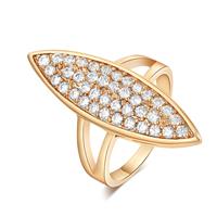 Gets® Finger Ring, Messing, Pferdeauge, vergoldet, verschiedene Größen vorhanden & mit kubischem Zirkonia, frei von Nickel, Blei & Kadmium, 32mm, verkauft von PC