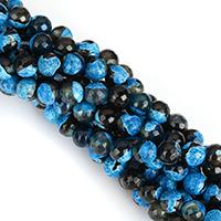 Natürliche Feuerachat Perlen, Freuer Knistern Achat, rund, verschiedene Größen vorhanden & facettierte & zweifarbig, gemischte Farben, Bohrung:ca. 1mm, verkauft per ca. 15 ZollInch Strang