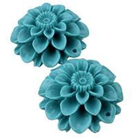 Koralle Anhänger, Synthetische Koralle, Blume, geschichtet, blau, 30x15mm, Bohrung:ca. 1.5mm, 5PCs/Menge, verkauft von Menge