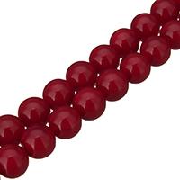 Südsee Muschelperlen, rund, verschiedene Größen vorhanden, rot, Bohrung:ca. 0.1mm, Länge:ca. 16 ZollInch, verkauft von Menge