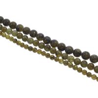 Labradorit Perlen, rund, verschiedene Größen vorhanden, Bohrung:ca. 1mm, Länge:ca. 15 ZollInch, verkauft von Tasche