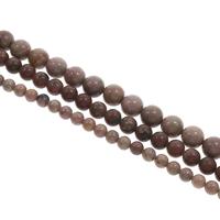 Rhodonit Perlen, rund, verschiedene Größen vorhanden, Bohrung:ca. 1mm, Länge:ca. 15 ZollInch, verkauft von Tasche