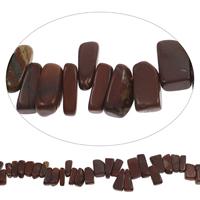 Edelstein-Span, Roter Jaspis, Klumpen, 9x13mm-15x25mm, Bohrung:ca. 0.8mm, Länge:ca. 15 ZollInch, 5SträngeStrang/Tasche, ca. 45PCs/Strang, verkauft von Tasche