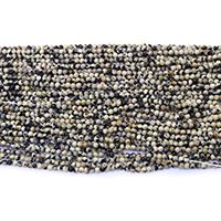 Dalmatinische Perlen, Dalmatiner, rund, natürlich, verschiedene Größen vorhanden, Bohrung:ca. 0.5mm, Länge:ca. 16.5 ZollInch, verkauft von Menge
