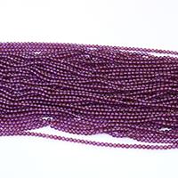 Natürlicher Granat Perlen, rund, Januar Birthstone, violett, 2mm, Bohrung:ca. 0.5mm, Länge:ca. 16 ZollInch, 5SträngeStrang/Menge, ca. 203PCs/Strang, verkauft von Menge