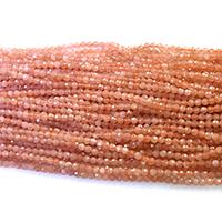 Mondstein Perlen, rund, verschiedene Größen vorhanden & facettierte, orange, Bohrung:ca. 0.5mm, Länge:ca. 16 ZollInch, verkauft von Menge