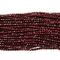 Natürlicher Granat Perlen, rund, Januar Birthstone & verschiedene Größen vorhanden & facettierte, Bohrung:ca. 0.5mm, Länge:ca. 16 ZollInch, verkauft von Menge
