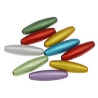 Traumhafte Acrylperlen, Acryl, oval, gemischte Farben, 6x19mm, Bohrung:ca. 1mm, ca. 1450PCs/Tasche, verkauft von Tasche