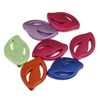 Traumhafte Acrylperlen, Acryl, Blatt, gemischte Farben, 17x25x4mm, Bohrung:ca. 1mm, ca. 500PCs/Tasche, verkauft von Tasche