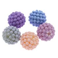 ABS-Kunststoff-Perlen, rund, Spritzlackierung, abnehmbare & gummierte, keine, 15mm, Bohrung:ca. 1mm, ca. 500PCs/Tasche, verkauft von Tasche