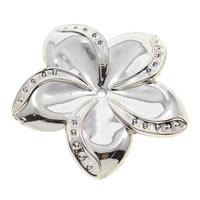 Verkupferter Kunststoff Perlen Einstellung, Blume, goldfarben plattiert, 46x5mm, Bohrung:ca. 2mm, Innendurchmesser:ca. 1mm, ca. 150PCs/Tasche, verkauft von Tasche