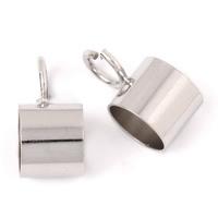 Messing Slide Bail Finding, Platinfarbe platiniert, frei von Blei & Kadmium, 6x12mm, Bohrung:ca. 3mm, 6mm, 1000PCs/Tasche, verkauft von Tasche