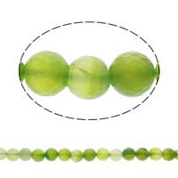 Natürliche grüne Achat Perlen, Grüner Achat, rund, facettierte, 12mm, ca. 31PCs/Strang, verkauft per ca. 15.5 ZollInch Strang