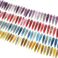 Natürliche Crackle Achat Perlen, Geknister Achat, keine, 8x35mm, Bohrung:ca. 1mm, ca. 37PCs/Strang, verkauft per ca. 15.5 ZollInch Strang