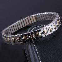 Unisex-Armband & Bangle, Edelstahl, plattiert, mit einem Muster von Herzen & zweifarbig, 9mm, verkauft per ca. 7.4 ZollInch Strang
