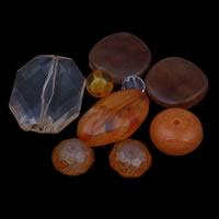 Gemischte Acrylperlen, Acryl, rote Orange, 8x5mm-25x35x10mm, Bohrung:ca. 1-2mm, ca. 1000PCs/Tasche, verkauft von Tasche