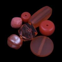 Acryl gemischt, Kirsche Quarz, 4mm-30x50x5mm, Bohrung:ca. 1-2mm, ca. 1000PCs/Tasche, verkauft von Tasche