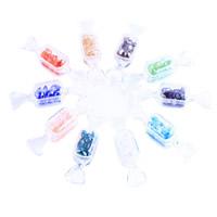 Kristall-Perlen, Kristall, mit Kunststoff Kasten, facettierte, gemischte Farben, 83x22mm, 6x12mm, 10BoxenFeld/Menge, ca. 200PCs/Box, verkauft von Menge