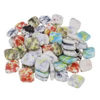 Porzellan Schmuckperlen, glaciert, gemischt, 22x26x7mm, Bohrung:ca. 1mm, 20PCs/Tasche, verkauft von Tasche