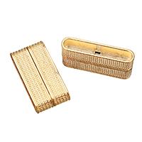 Zinklegierung Magnetverschluss, Rechteck, Rósegold-Farbe plattiert, frei von Nickel, Blei & Kadmium, 18.50x37x7.50mm, Bohrung:ca. 34.5x5.5mm, 5PCs/Menge, verkauft von Menge
